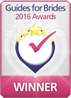 Winner for the Guides for Brides Five Star Service Awards 2016
