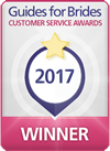 Winner for the Guides for Brides Five Star Service Awards 2017