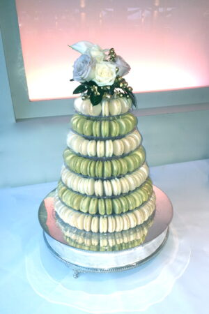 Ivory & Gold Macaron Tower