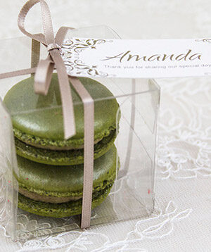 Pistachio Macaron Duo- tags by lauraritchiedesigns.co.uk