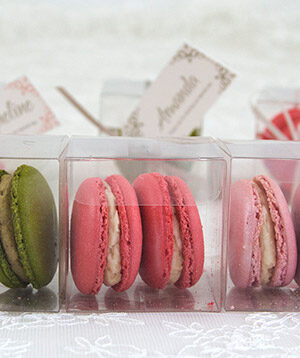 Macarons in a row -- tags by lauraritchiedesigns.co.uk